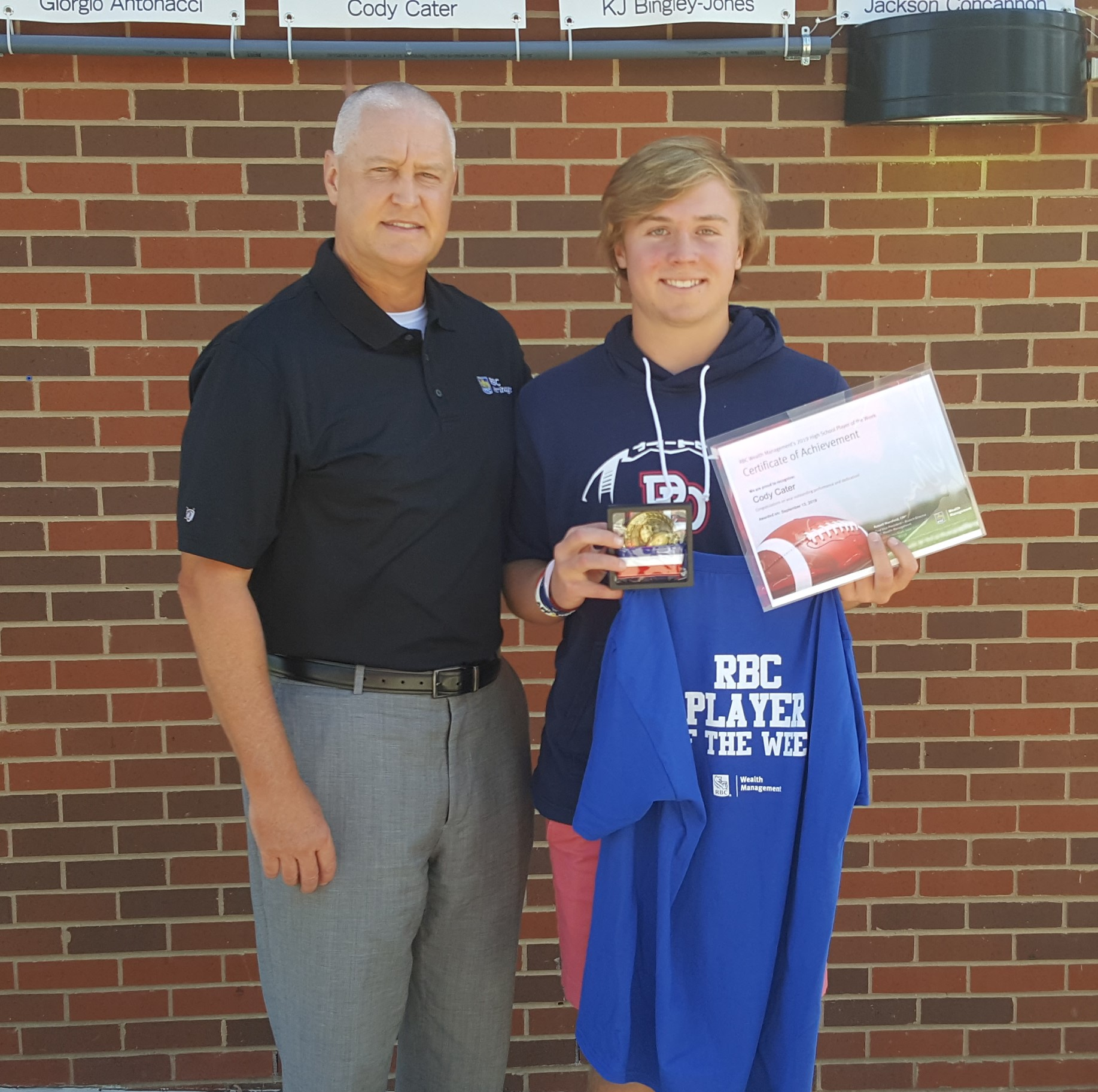 "Charger QB Cody Cater named RBC Wealth Management ""Player of the Week"""