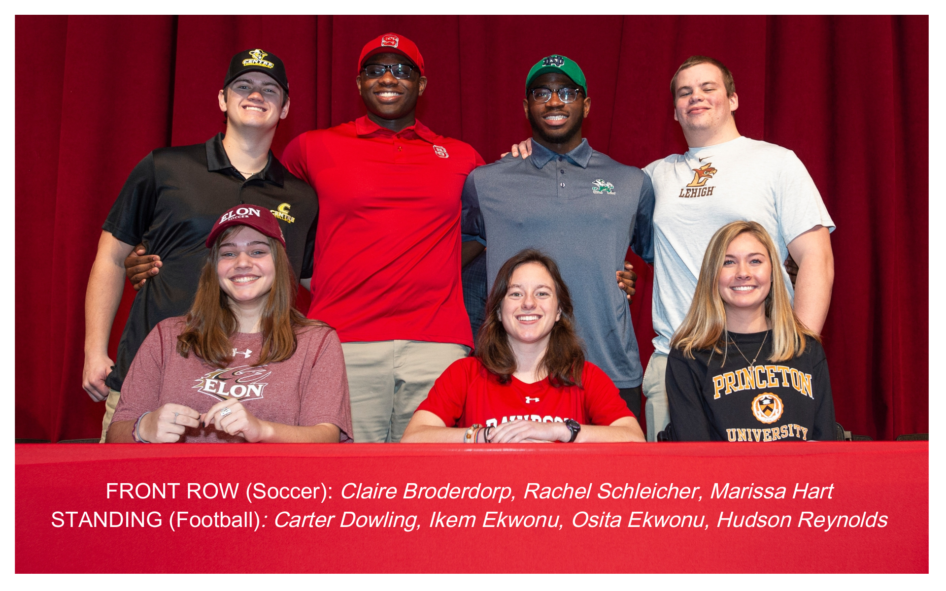 Providence Day celebrates seven student-athletes signing their National Letter of Intent