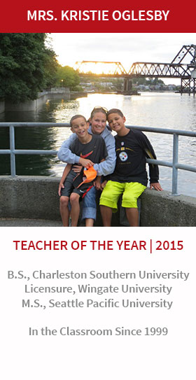 Kristie Oglesby, Teacher of the Year 2015